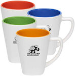 12oz Two Tone Square Mugs